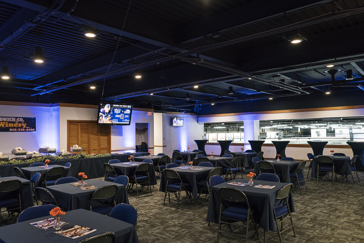 Flint, MI - Tuesday, January 30, 2018: The updated VIP area, the Blue Line Club, at the Dort Federal Event Center.
