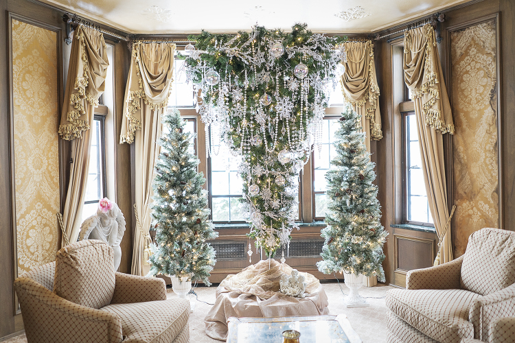 One of the main Christmas tree attractions, is the upside-down tree in the living room of the Heddy home.