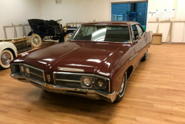 Carol and Jim Lenas gifted her family's 1968 Buick LeSabre to the Sloan Museum.