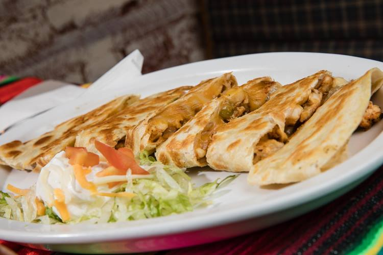 The menu at Soriano's Mexican Kitchen includes all the classics, including (of course) quesadilla.