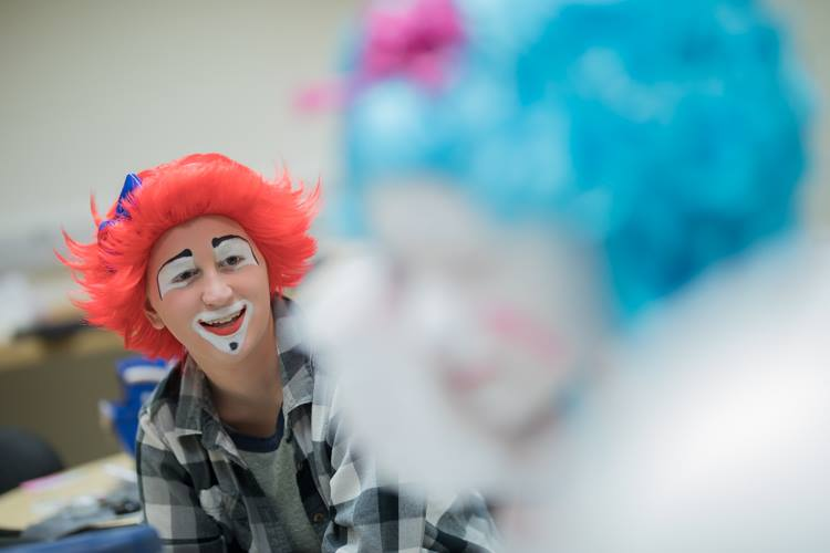 Mott Campus Clowns performs throughout Michigan. The 11 clowns from Mott Community College deliver an anti-bullying message in their performances.