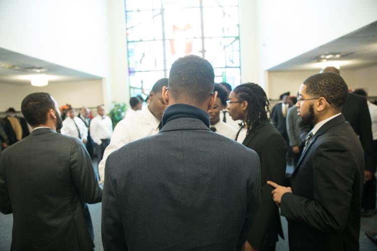 Isaiah Oliver at Mt. Olive Missionary Baptist Church before the MLK Day tribute.