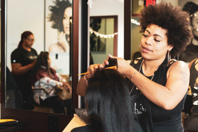 Twice a year the Creative Hair School gives back to the community through initiatives like Free Care For Your Hair. It provides and promotes free hair care maintenance for adults and children ages 7 to 17.