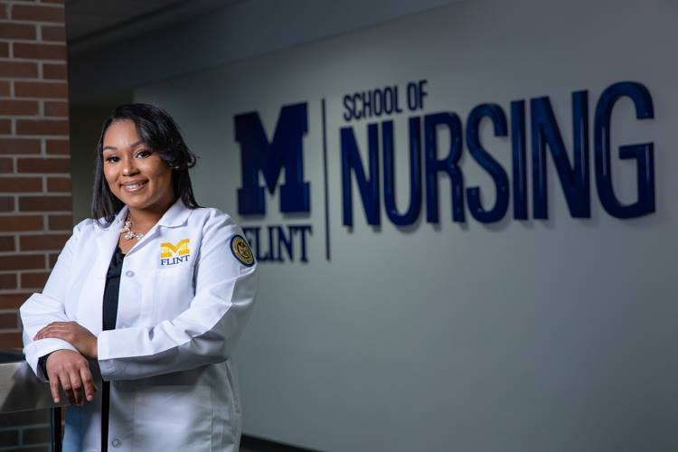 Meleah Denson credits UM-Flint with giving her the support she needed to start a new career in nursing after her sister's death.