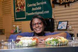 Tammie Mathis opened Tee's Plentiful Salads in June 2018 — and offers 65 salad varieties at her booth in the Flint Farmers' Market.