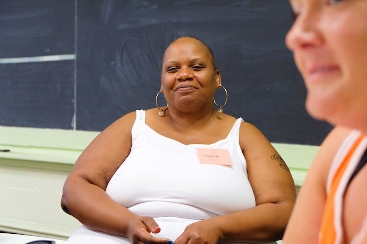 Yolanda Hull, 49 came to St. Lukes December 2018 during their Christmas food drive and despite graduating in May has returned for another round of employment prep classes.