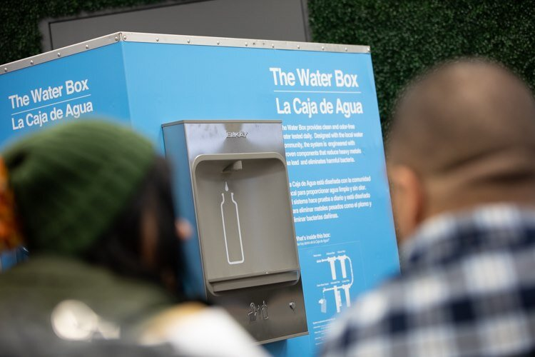 The Latinx Technology and Community Center is the fourth location of the Water Box, a portable filtration system developed by Jaden Smith's environmental nonprofit 501cThree.