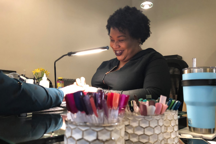 Natalie Kadie has been a nail tech for 19 years, but decided it was time to invest in her own business in her own community.