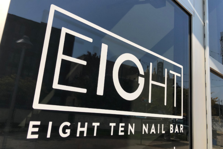 Eight Ten Nail Bar is located at 555 S. Saginaw Street next to Table and Tap and across the street from the Capitol Theatre.