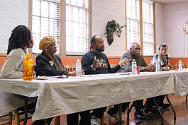 January 25 panel featured resident Inez Taylor, Councilman Maurice Davis, Pastor McCathern, and Hidden Park adopter Linn Aikens.