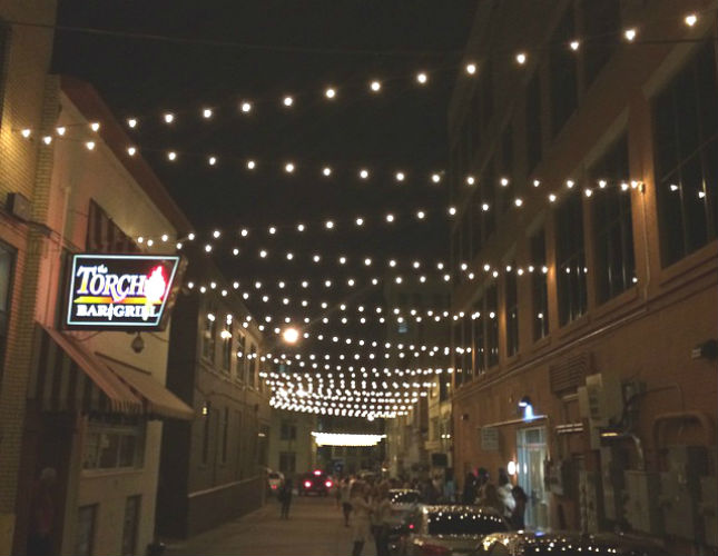 Iconic Flint alley lights will be added to Brush Alley near the Capital Theatre—if 30-day, $50,000 fundraising campaign is successful.