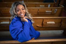 April Cook-Hawkins is first lady of Prince of Peace Missionary Baptist Church.
