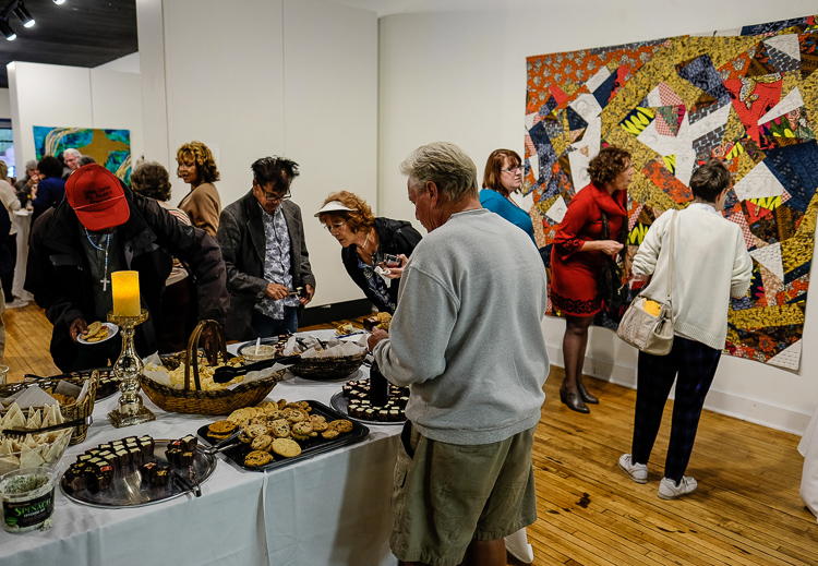 The Greater Flint Arts Council puts out a generous offering of food and beverages as well as live music for visitors to ArtWalk.