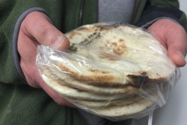 The pita uses a secret family recipe and it is the best seller at the Bread Basket in Flint.