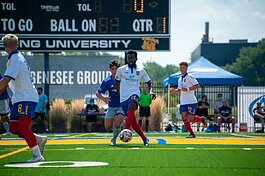 The Flint City Bucks beat Midwest United FC from Grand Rapids 8-0 in their first of six exhibition games August 23.