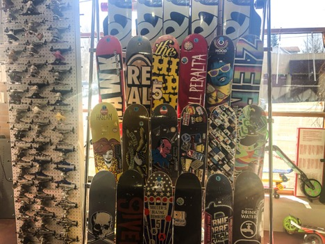 The Skripniks added skateboards to their inventory in 1984.