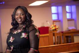 Catrina Tillman is first lady of First Trinity Missionary Baptist Church.