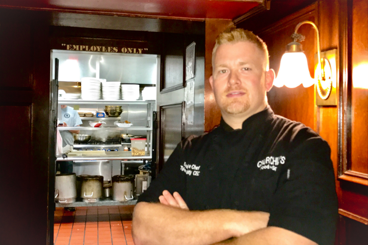Tyler Hardisty is the new executive chef at Churchill's and recreated its menu with a fine dining twist.