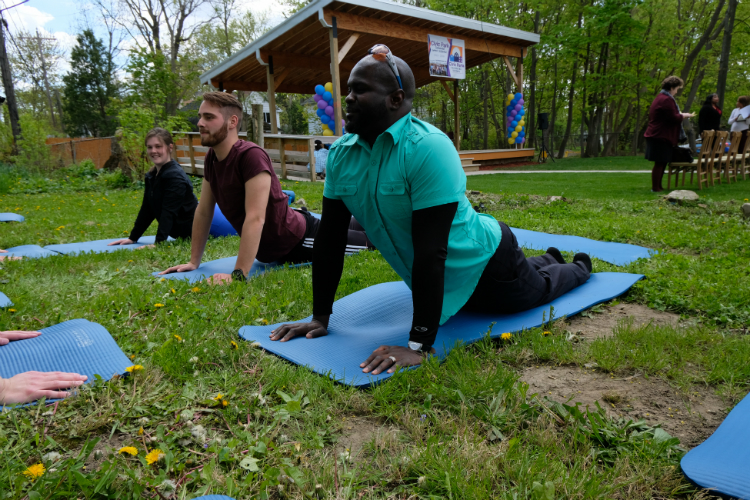 The Crim Fitness Foundation offers yoga and mindfulness lessons during the Civic Park Centennial kickoff.