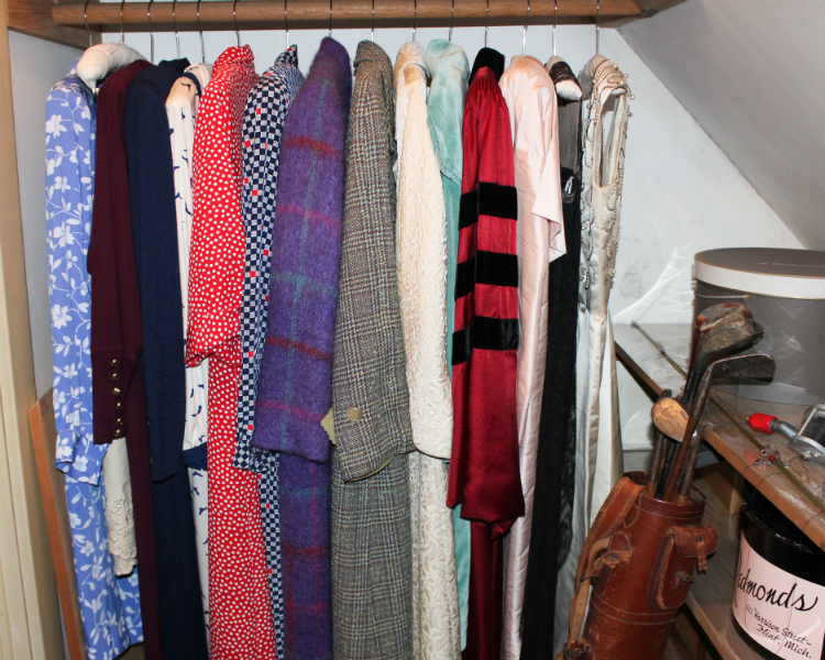 A Peek Inside One Of The Storage Closets With Ruth Mottu0026#39;s Dresses