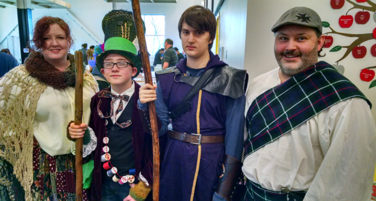 All types of genrAll types of genres are celebrated at the Flint Comix Con. Costumes are optional, but it does offer a good excuse.es are celebrated at the Flint Comix Con. Costumes are optional.