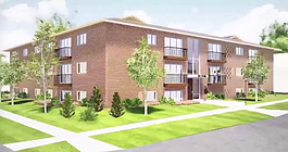 A rendering of a redeveloped Georgia Manor Apartments.