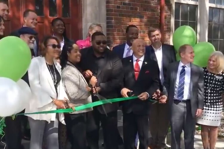Communities First Inc. hosts a ribbon cutting for the new Coolidge Park Apartments on Sept. 23, 2019.