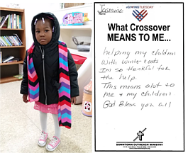 New winter coats are available for Flint area kids at Crossover Downtown Outreach Ministry while supplies last.