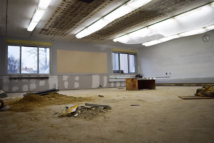 The room where the soon-to-open Community Water Lab sits empty. Plans for tearing down its eastern wall to allow resident a look into the lab's inner work are being considered.