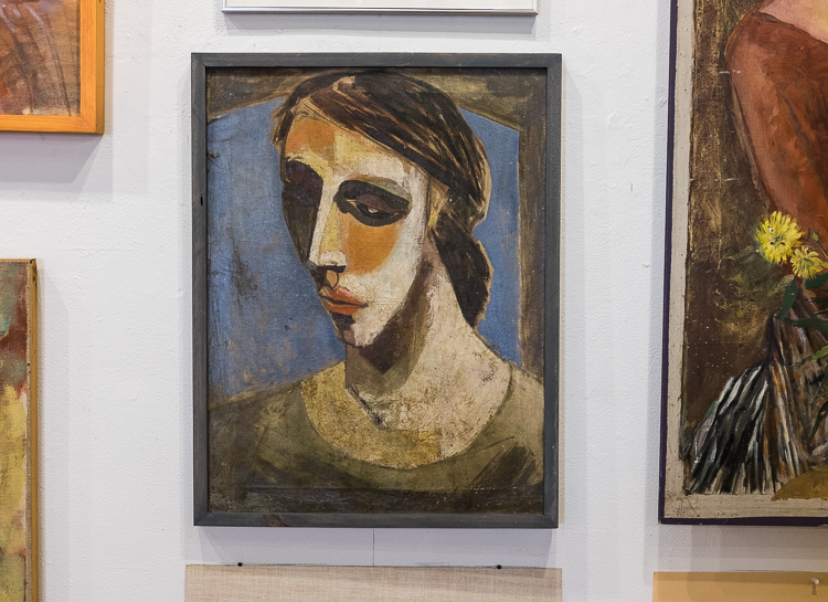 The Stefan Davidek retrospective exhibit shows a Picasso influence.
