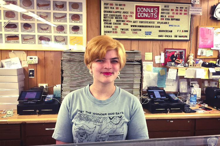 Alicia Gibbons, 24, is third-generation owner of Donna's Donuts.
