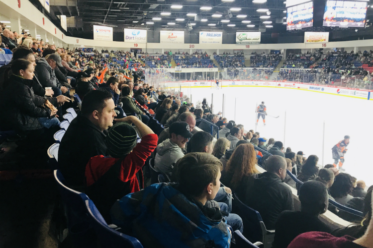 A near sellout crowd packed the Dort Federal Events Center for the Firebirds' last game of the 2017-18 season.