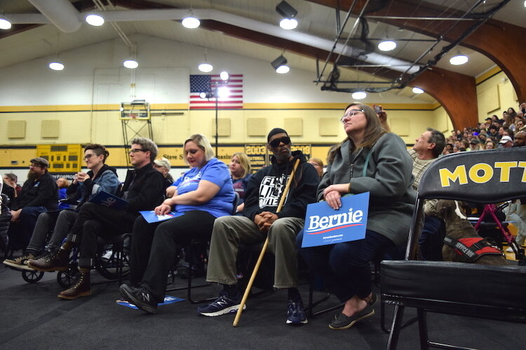 Over 1,000 people attended Bernie Sanders' town hall on racial and economic injustice within Ballenger Field House, Saturday, March 7.