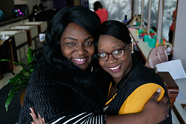 Captured November 2018, Ebonie Gipson (left) began working with Theresa Nelson, owner of Sweet Tee's Salon and Kids' Spa, August of 2018. Nelson is a major sponsor for Small Business Saturday.