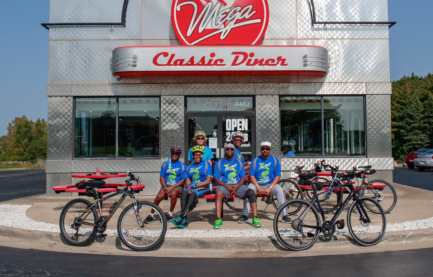 The Flint Faith Ryderz meet regularly to bike through Flint and surrounding areas.