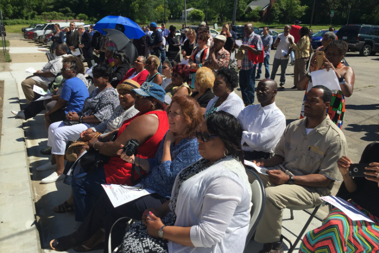 More than 100 people attended the ribbon cutting ceremony for Flint Development Center on Thursday, June 8, 2017.