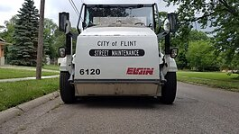 The city of Flint announced a plan to begin sweeping residential streets for the first time in seven years.