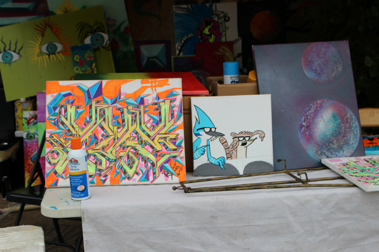 A look at some of the art on display at Free City Art Festival.