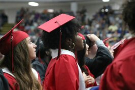 Grand Blanc High School graduates at their 2019 commencement.