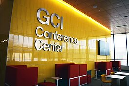 The GCI building is host to several facilities designed to imitate real-world work environments. The GCI conference center sits next to the restaurant where visitors and staff can purchase food cooked by students.