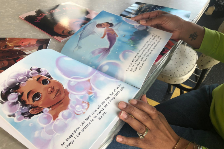 """Hair Like Mine"" is one of six children's books penned by LaTashia M. Perry."