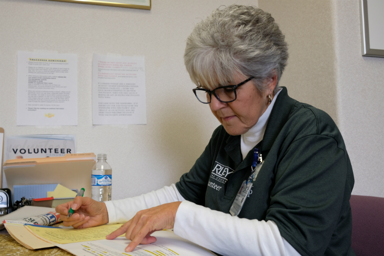 Millie Hursin volunteers at Hurley Medical Center for its HELP program.