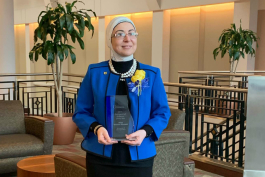 Hiba Wehbe-Alamah is one of three professors honored by the Michigan Association of State Universities.