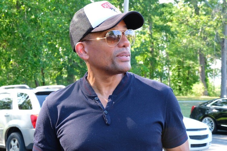 "Actor Hill Harper also is founder of Northstar Legal Group. He encouraged Flint residents to utilize their legal rights at the Flint Town ""Back to School"" Carnival Splash."