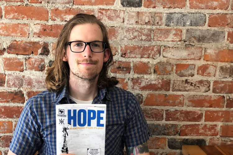 """Hope: A Comic for Flint"" features comics developed by five writers and five artists, each with its own unique perspective."