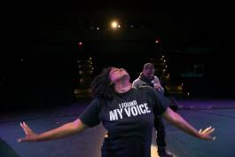 "Cherisse Bradley presents a powerful tribute to women and survival with the annual ""I Found My Voice"" event at the Capitol Theatre."