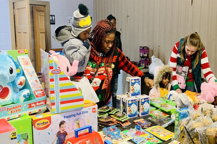 All who attended were able to partake in a toy giveaway inside Joy Tabernacle Church.