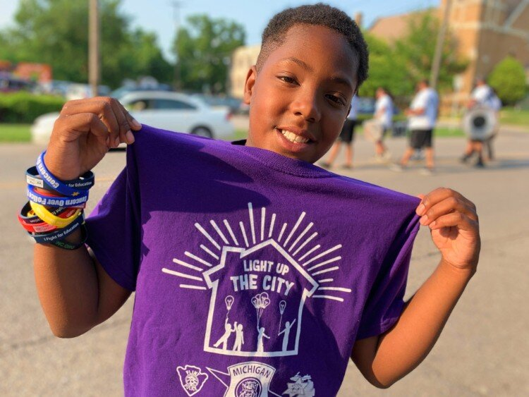 """The parade was really fun, really cool. It inspired me to keep on moving and being myself and doing what I have to do. And that's why I went on with the parade.""  —Jarquavise Reed, 11."