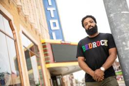 Jason Trice opened his Bedrock Apparel storefront in August at the Capitol Theatre.