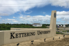 Kettering University is adding a new gateway to campus in addition to new and improved signage throughout campus.